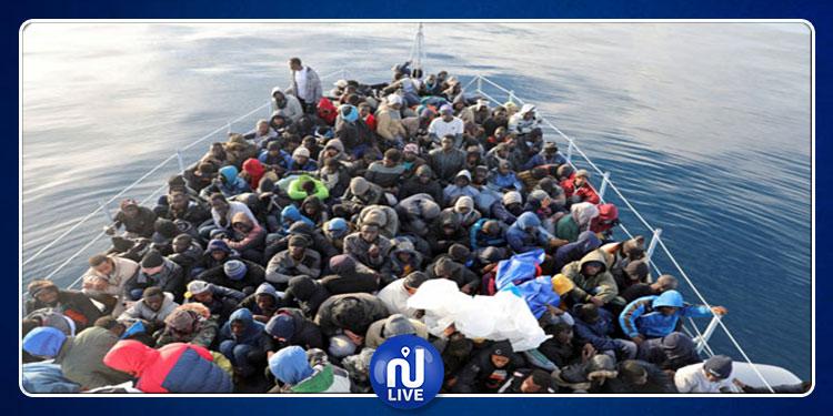 انقاذ 147 مهاجرا غير شرعي قبالة السواحل الليبية