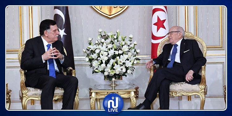 La crise libyenne au centre de l'entretien Caïd Essebsi-al-Sarraj