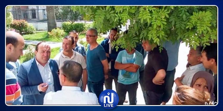 اثر الاعتداء على مهندس: وقفة احتجاجية لأعوان بلدية زاوية سوسة