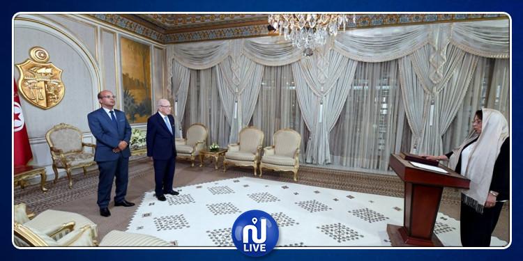 رئيس الجمهورية يشرف على موكب أداء اليمين للعضوة الجديدة المنتخبة بالمجلس الأعلى للقضاء