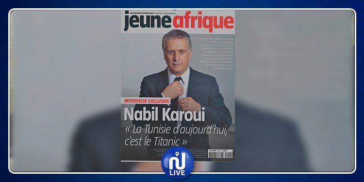 Nabil Karoui à Jeune Afrique : Je ne serais pas là si je n'y croyais pas….Nous sommes pragmatiques et non dogmatiques…les solutions existent…
