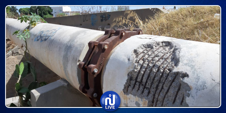 نابل: تخريب قناة جلب  المياه الرئيسية الرابطة بين الحمامات و بئر بورقبة (صور)