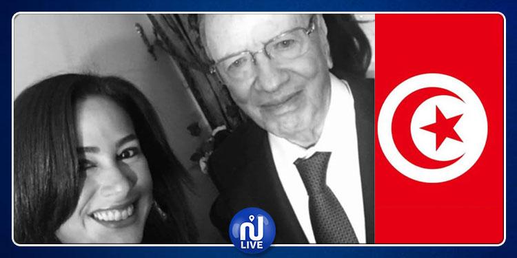 هند صبري: 'رحم الله الرئيس الأستاذ الباجي قايد السبسي الذي قضى حياته في خدمة تونس'