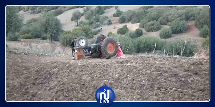 سيدي بوزيد: وفاة شخص نتيجة انقلاب جراره الفلاحي