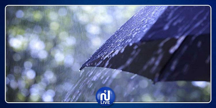 كميات متفاوتة الأهمية من الأمطار بعدد من أنحاء البلاد