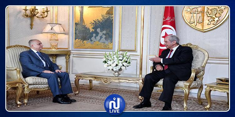 رئيس الجمهورية يتحادث مع وزير الخارجية العراقي (فيديو)