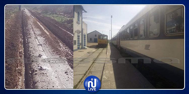 الكاف: أعوان الشركة التونسية للسكك الحديدية فى إضراب بيومين (صور)