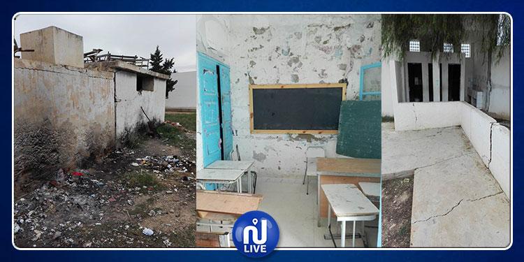 القيروان: مدرسة تستغيث وتلاميذ محرومون من الدراسة وأولياء غاضبون (صور)