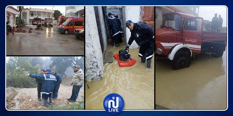 فيضانات وحوادث..الحماية المدنية تجري 280 تدخلا في يوم واحد