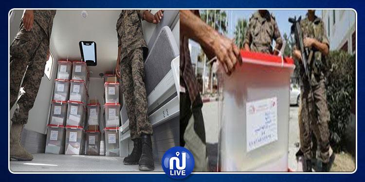 انطلاق توزيع المواد الانتخابية بتأمين من الجيش الوطني