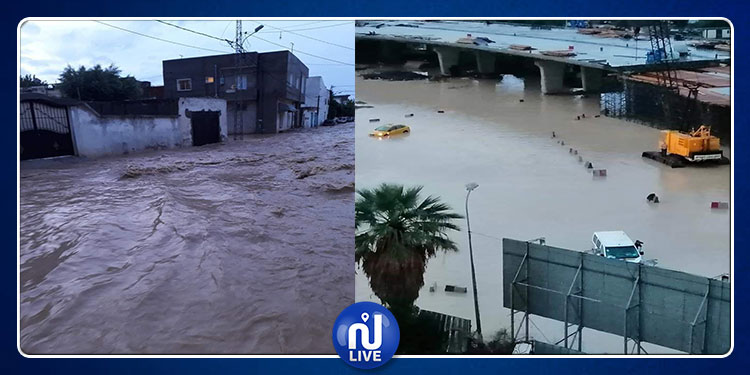أريانة: مياه الأمطار تغمر المنازل والمواطنون يحتجون ويقطعون الطريق