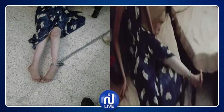 حي التضامن: أب يٌقيّد ابنته بسلسة من حديد ويحتجزها داخل غرفة ويعذبها (صور)