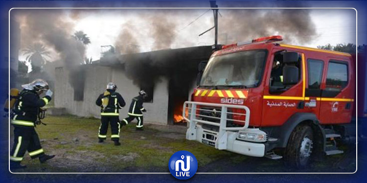 قرمبالية :انزلاق شاحنة إطفاء و إصابة 3 أعوان حماية مدنية