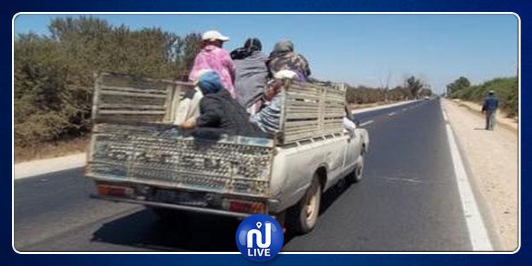 سيدي بوزيد: وفاة عاملة دهستها شاحنة معدّة لنقل عمال الفلاحة