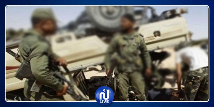 بين المكناسي وسيدي بوزيد: إصابة 4 عسكريين في حادث انقلاب سيارتهم