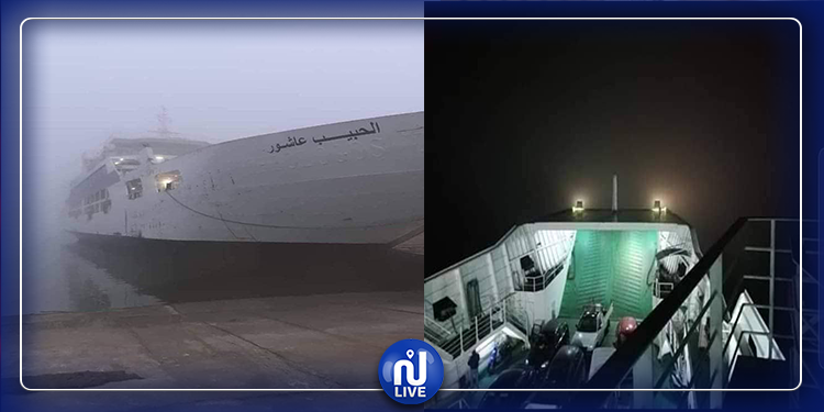 فوضى وحالات إغماء في صفوف المسافرين على متن لود قرقنة العالق عرض البحر