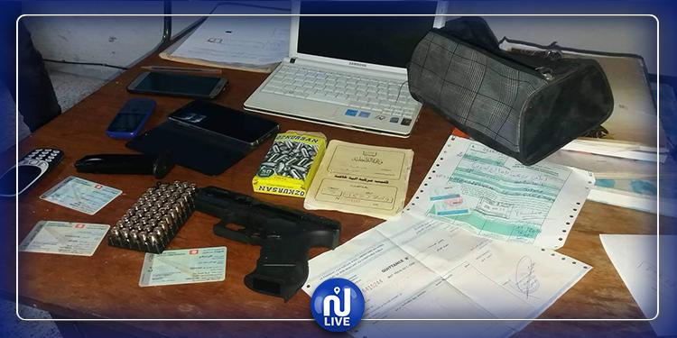 قابس: ايقاف شخصين بحوزتهما سلاح ناري وخراطيش  (صور)