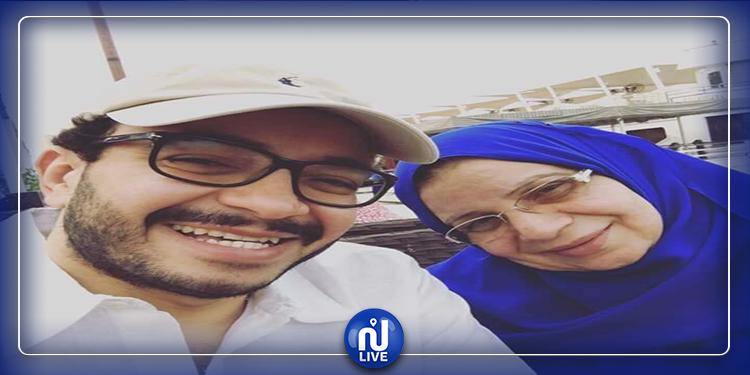 وفاة والدة الفنان المصرى حسام داغر