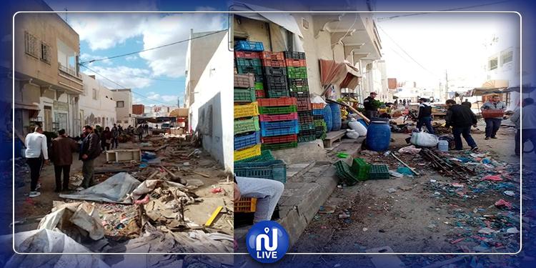 القيروان: إزالة الانتصاب الفوضوي  وإحداث سوق بلدية جديدة
