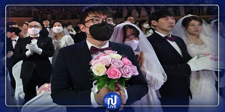 لتحدي الكورونا..تنظيم حفل زفاف جماعي في كوريا الجنوبية