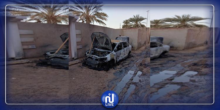 جمنة: حرق سيارة رئيس البلدية أمام منزله (صور+ فيديو)