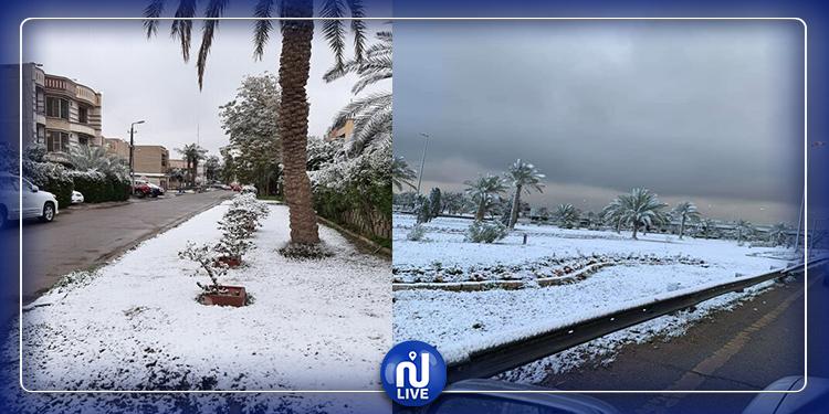 بعد سنوات طويلة: بغداد تتزيّن بالثلوج (صور)