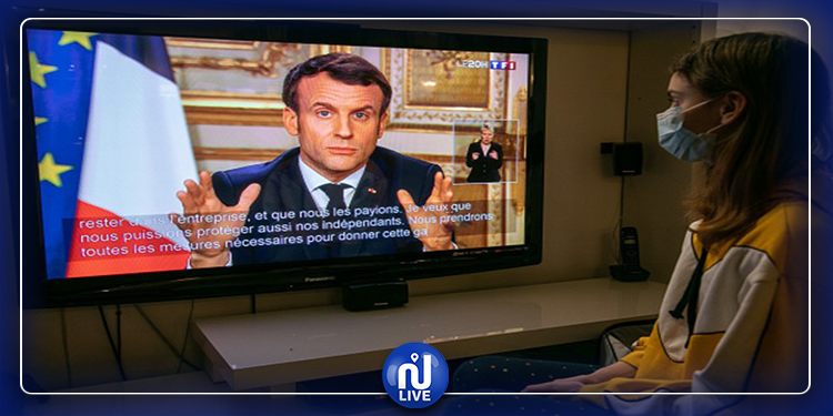 فرنسا: ماكرون يعلن منع التنقل لمدة 15 يوما