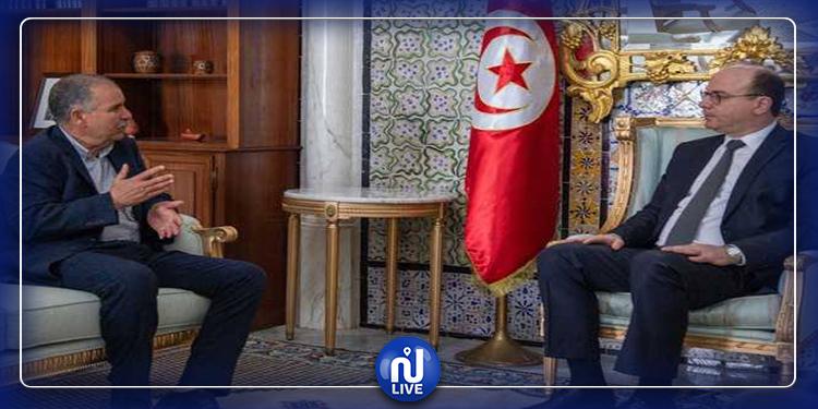 Elyes Fakhfakh reçoit Noureddine Taboubi