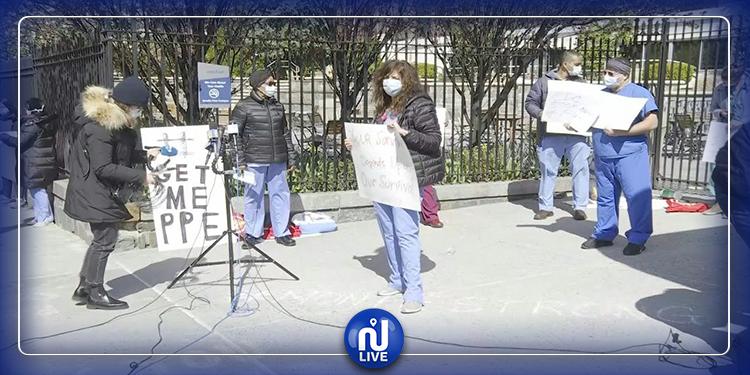 Les infirmiers de New York protestent contre les conditions de travail