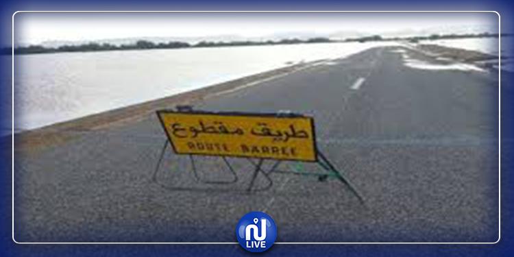 انقطاع حركة السير بالطريق المحلية 460 بالكبارية