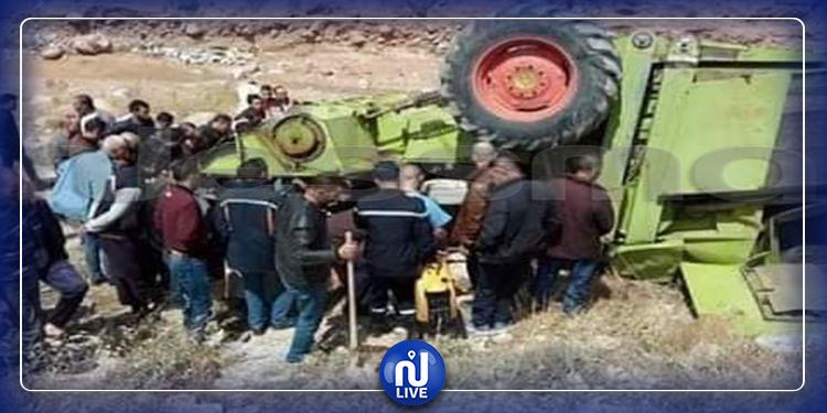 جندوبة : وفاة سائق آلة حصاد بعد انقلابها