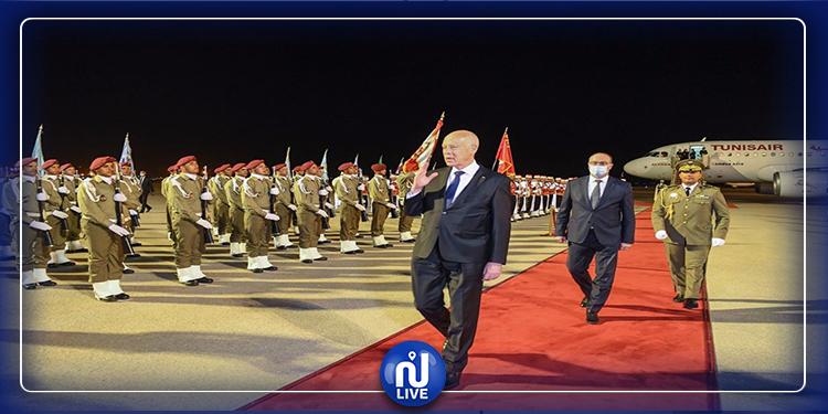رئيس الجمهورية قيس سعيد يعود إلى تونس (صور)