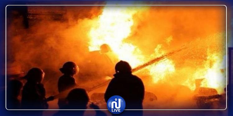 إخماد حريق  بفضاء المركب الجامعي في منوبة