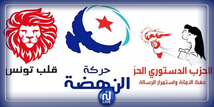 الدستوري الحر والنهضة وقلب تونس يواصلون تصدّر المشهد السياسي في نوايا التصويت
