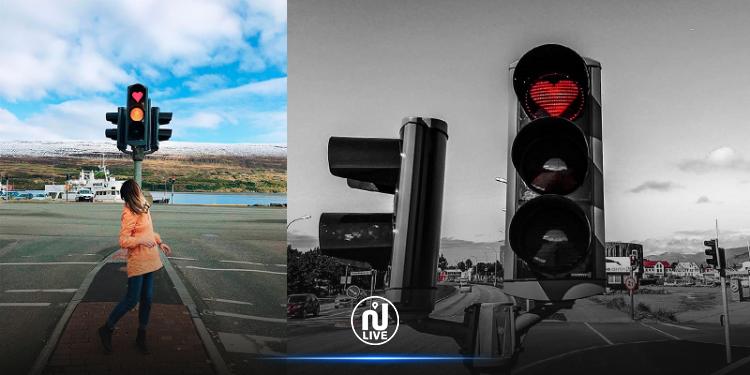 أيسلندا: إشارات مرور على شكل قلب لهذا السبب (صور)