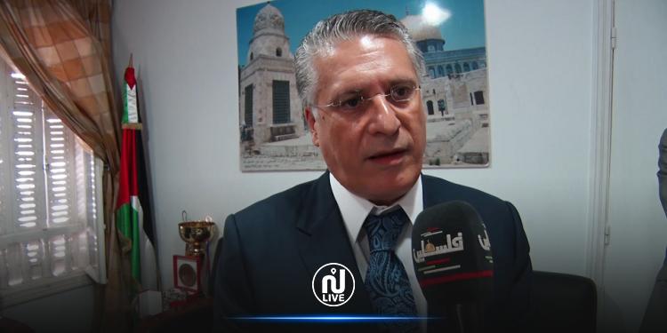 نبيل القروي: قلب تونس يساند بقوة مبادرة الرئيس محمود عباس