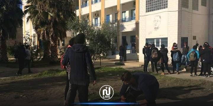 الكاف: تسجيل حالات اغماء في صفوف الطلبة المعتصمين (صور)