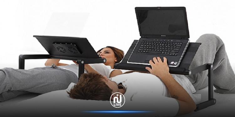 مخاطر الاستلقاء أثناء العمل على حاسوب محمول !