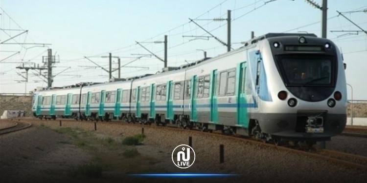 خروج قطار عن السكة بين تونس ومقرين الرياض