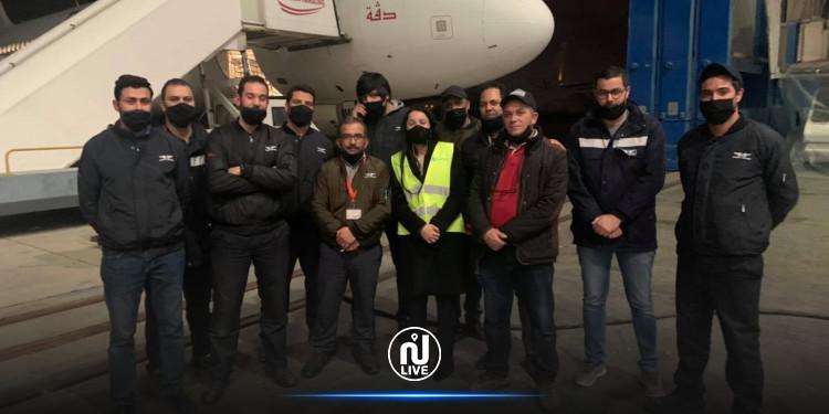 العاملون في الخطوط التونسية يصلحون الطائرة الـ4 في أقل من أسبوع
