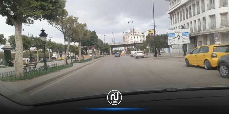 عودة الهدوء لشارع الحبيب بورقيبة (صور)