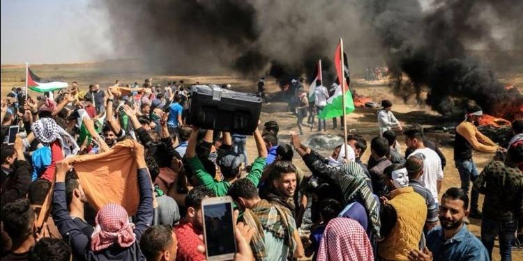 غزة: 3 شهداء و250 مصابا برصاص جيش الاحتلال