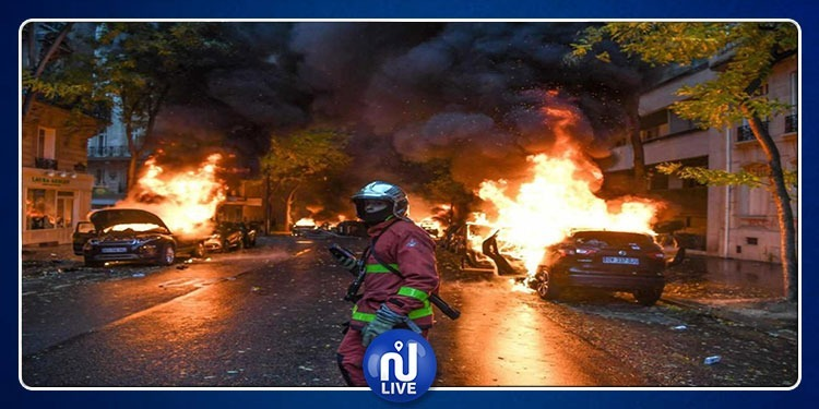نهب البنوك..حرق السيارات.. ومتاريس: صور الفوضى في باريس كاملة