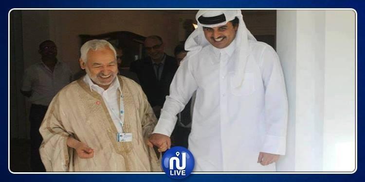 هل التحق الغنوشي بأمير قطر حين مغادرته القمة؟