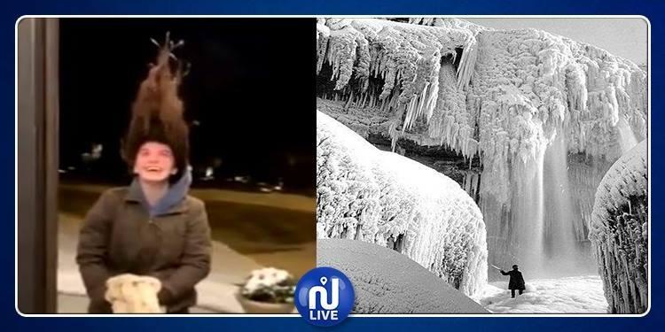 بلغت 53 تحت الصفر: موجة برد شديد تجمّد شعر الرأس وشلالات نياغارا!