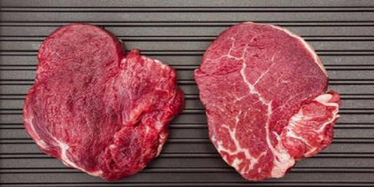 Viande rouge :  Plein de lignes rouges