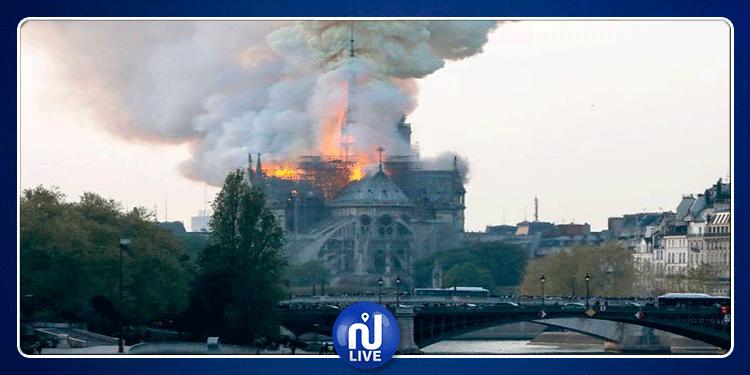 فرنسا: حريق هائل يأتي على كنيسة 'Notre Dame de Paris'(فيديو)