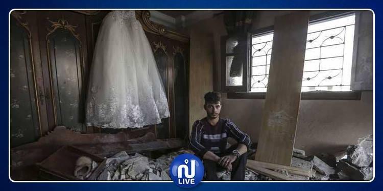 قصة عروس سورية نجت من الحرب في بلادها فلاحقها القصف في غزة !