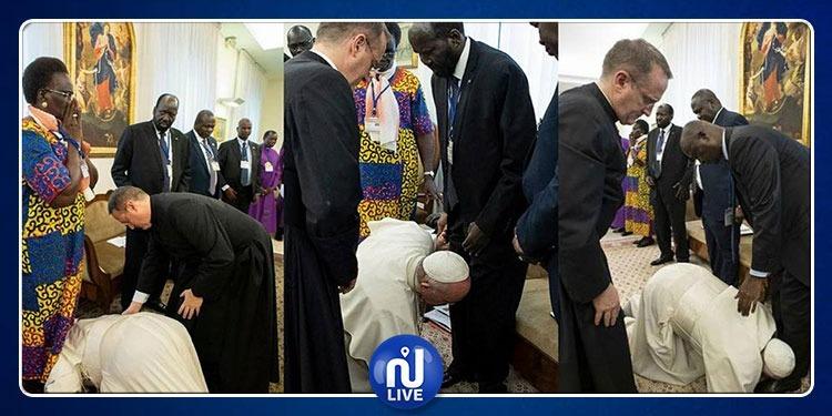 بعد تقبيل البابا فرنسيس أقدام زعماء جنوب السودان.. نانسي عجرم تعلق