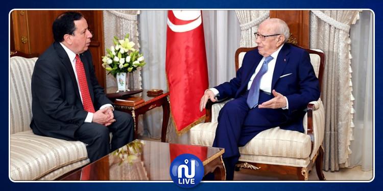 فحوى لقاء رئيس الجمهورية بوزير الخارجية خميس الجهيناوي